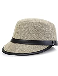 BBDM Casquillo del sombrero de visera de mujeres para damas de lana , khaki