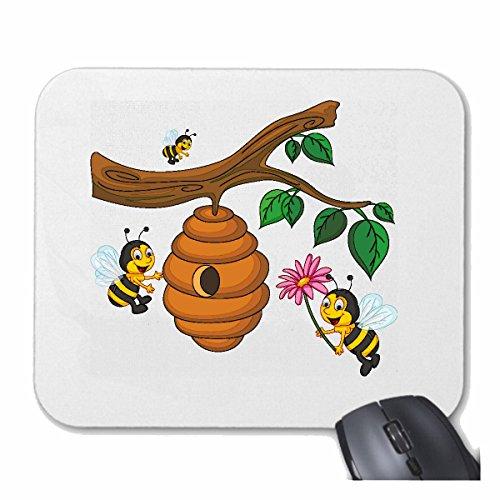 mousepad-mauspad-lustige-bienen-am-bienenstock-wespe-honig-faltenwespen-hornisse-fr-ihren-laptop-not