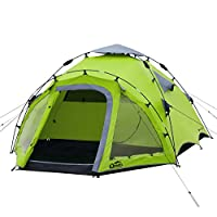 qeedo quick oak 3 man camping tent (quick up system)