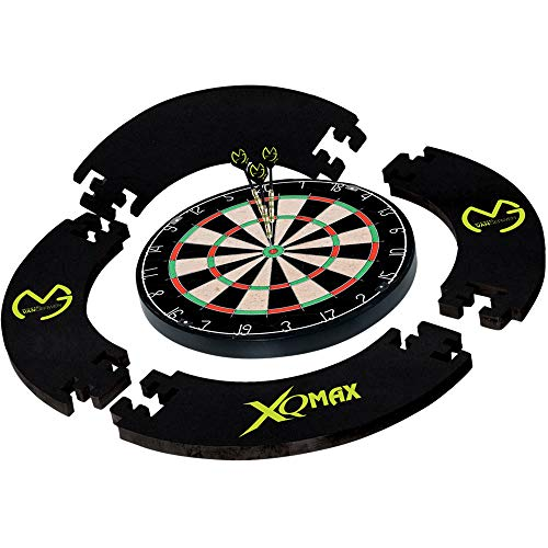 XQ Max - MvG Eva Surround & Turnier Dartset - inkl. Dartscheibe & 2 Sets Brass Darts - Gerwen Black