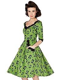 Voodoo Vixen - Robe - Patineuse - Femme vert Green