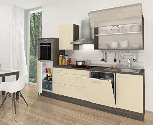 Respekta premium küchenzeile rp280heva 280 cm vanille eiche grau nachbildung ab 202900 €
