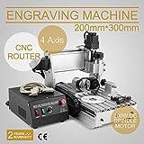 FurMune CNC Fräsmaschine Fräs Graviergerät CNC Router Machine Engraver Machine 3020T 4 Achsigen Einfache Installation Aus Aluminiumlegierung (3020T 4 Achsigen)