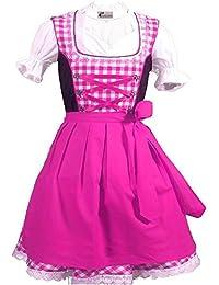Trachtenkleid 3tlg. Kinder Dirndl Mädchen Kleid Gr. 92,104,116,128,140,146,152