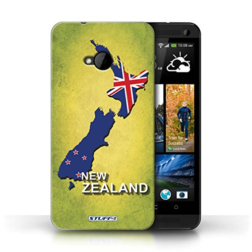 Coque de Stuff4 / Coque pour HTC One/1 M7 / Amérique/Américain/USA Design / Drapeau Pays Collection nouvelle Zélande