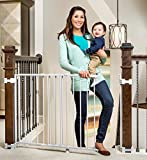 Best Dog Gate - Regalo Top of Stair Gate, White Review