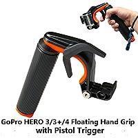 Aokon nuovo arancione impermeabile/Impugnatura Galleggiante Galleggiante maniglia treppiede con pistola trigger per GoPro Hero3/3 +/Hero4, con vite e cinghia da polso