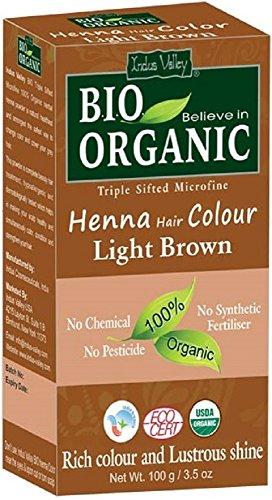 Henna-Haarfarbe aus Indus-Tal hellbraun 100% Bio Triple gesiebt mikrofeines Pulver (Light Brown) -
