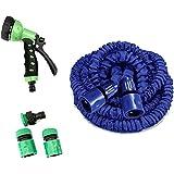 RK Enterprise Car Washing Gardening Water Spray Gun With 15 Meter Adjustable Hose Pipe