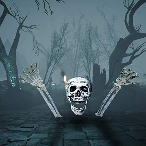 Zombie Erwachsene Gesicht Für Kostüm Ghost - Halloween Requisiten Halloween Dekor Handgelenke Menschliches Skelett Dekoration für Haus Bar Hausgarten Party Innen Urlaub