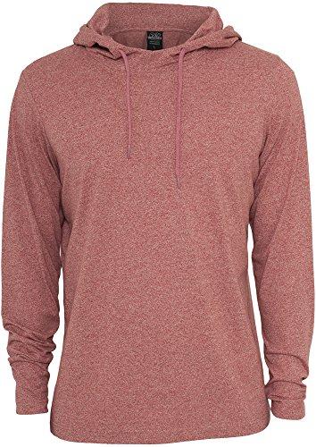Melange Jersey Hoody Urban Classics Streetwear Felpa Cappuccio Uomo ruby