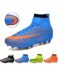 J&T Football Boots Unisex High Top Football Shoes Teenagers Training Shoes Professional Outdoor Soccer Shoes