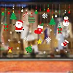 Adesivo natalizio, decorazione per vetrine di Natale, decorazione da parete o finestra, in PVC, 50 x 70 cm – Favourall