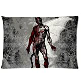 Generic SEPTICFLESH Custom Zippered Soft Cotton Pillowslips Pillow Cases Standard Size 20x30 (Twin sides)
