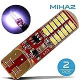 Mihaz 2X 24SMD 5050 lampadine a LED bianco caldo lampadine a risparmio energetico Lampadine Per la casa Usa Lampadine LED del silicone