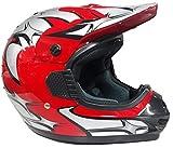 WinNet Casco rosso da per moto cross omologato