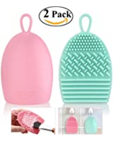 RUIMIO Makeup Brush Cleaner Portable Silicone Brush Egg Pink Mint Green