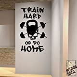 Designdivil Wall Art 'Train Hard or go Home' Premium Motivational Art Wand Aufkleber. schwarz
