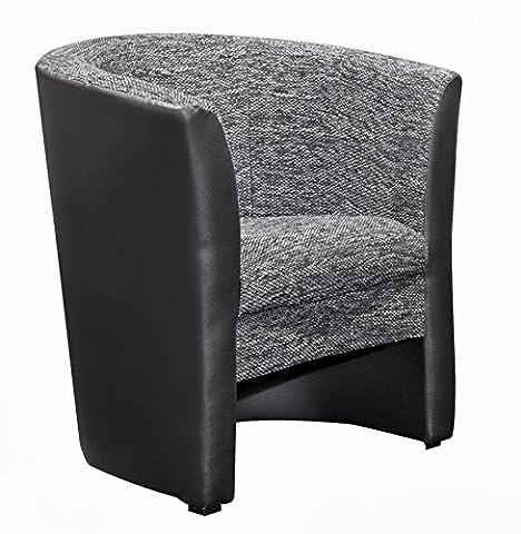 Hikenn Cocktailsessel Sessel Polstersessel Einzelsessel in schwarz und