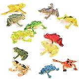 ULTNICE Modell aus Kunststoff Frosch Figuren, dass Kinder Spielzeug Set 12St Multi Color