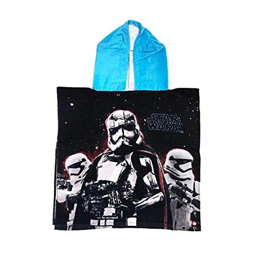 Capa de baño con capucha niño Star Wars negro/azul tu (2–6años), 100% algodón, negro/azul, talla única
