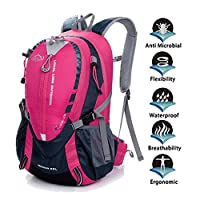 ONENICE 25L Waterproof Camping Travel Cycling Backpack Hiking Daypacks Sports Rucksack With Rain Cover Laptop Compartment