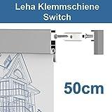 Leha Klemmschiene, Wandklemmschiene, Klemmleiste Switch silber 50cm Aluminium