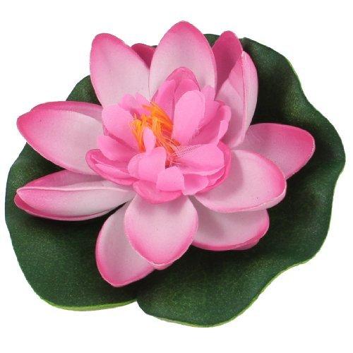Water & Wood Aquarium Aquascaping Hot Pink Green Floating Foam Leaf Lotus Plant Decor