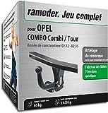 Rameder Attelage Col de Cygne Démontable avec Outil pour Opel Combo Combi/Tour + Faisceau 7 Broches (144492-10001-1-FR)