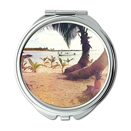 Yanteng Spiegel, Reise-Spiegel, Strandboot-Kokosnussbäume, Taschen-Spiegel, beweglicher Spiegel