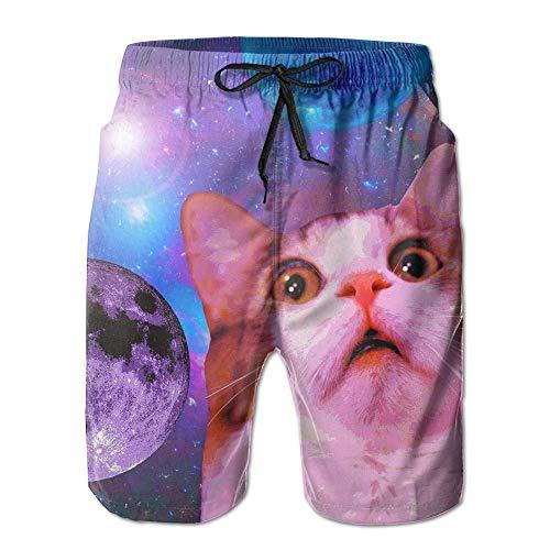 Space Cat Sweat 2017 Man's Beach Pants Large Cotton Beach Pants