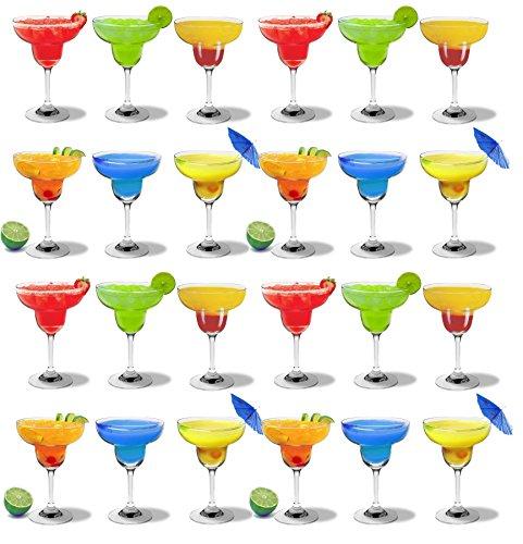 Rink Drink Porte-Bouteilles de vin - empilable/pin Naturel - 30 Bouteilles- 270 ML - Lot de 24 Verres