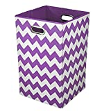 Modern Littles Chevron Folding Laundry Basket