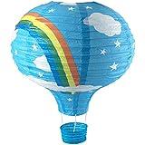 Just Contempo niños arco iris y nubes globo lámpara, azul