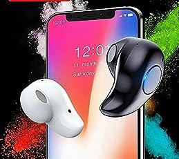 EZ-TECH, Mini Bluetooth with High Sensitivity Voice Calls, Music Earphone Mic Compatible Samsung OnePlus Nokia (EZ278-BLACK, Black)