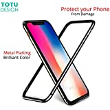 Totu Bumper Case For IPhone X 10 Coque Shockproof Frame Cover Case For IPhoneX (Silver)