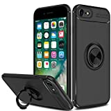 Innens iPhone 8 Case, iPhone 7 Case, [Anti-Scratch] [Shockproof] Slim 360 Degree with Rotation Metal Finger Ring Holder Kickstand Magnet Car Holder Soft Protective Case Cover for Apple iPhone 7/iPhone 8 (4.7 inch) (Black)