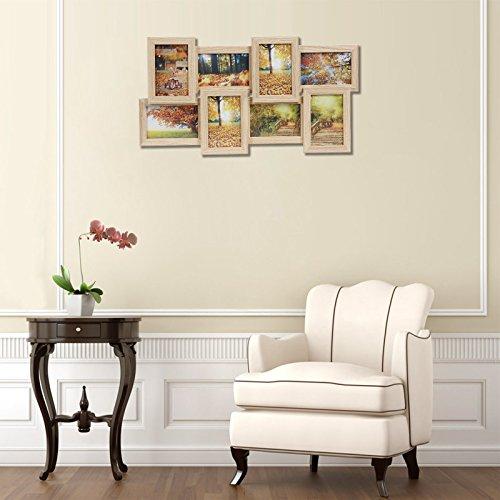 Songmics cornice multifoto da parete con 8 posti di foto e for Portafoto verticale da parete