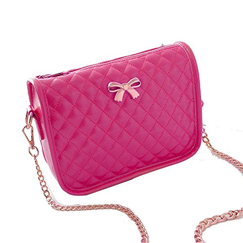 Minetom Borsa a tracolla in pelle artsy borsa donna,Messenger Bag, Bowknot Cross Body Bag, Shoulder Bag or Handbag ( Rosa )