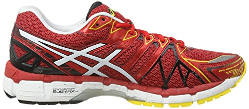 Asics Gel kayano 20 T3N2N2101, Running Homme Rouge (Blanc/Jaune)