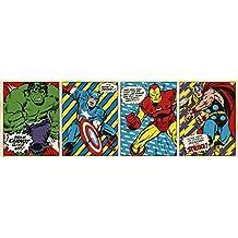 Grupo Erik Editores Puerta - Poster con diseño Marvel Comics Triptico, 53 x 158 cm