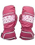 Ultrasport Basic Ski Fäustlinge Starflake, Fausthandschuhe für Kinder mit guter Bewegungsfreiheit, wasserbeständig und winddicht, beere, Größe 8 - 10 J.