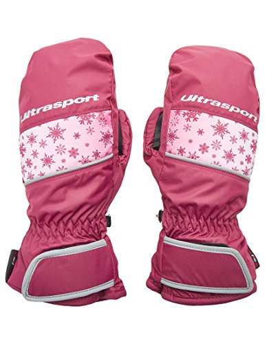 Ultrasport Kids Basic Starflake Skiing Gloves, Purple, 10-12 Years