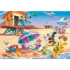 Trefl - Puzzle 3D - 210 pièces : Mickey et ses amis à la plage