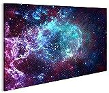 islandburner Bild Bilder auf Leinwand Sternennebel Sterne Weltall Galaxie 1p XXL Poster Leinwandbild Wandbild Dekoartikel Wohnzimmer Marke
