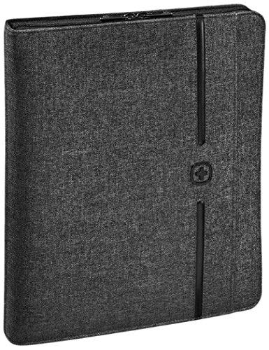 WENGER Affiliate A4 Schreibmappe Business-Organizer mit 25,4cm 10Zoll Tablet-Fach Abnehmbarer Ringhefter grau