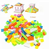 #6: Ps Retail 144Pcs/Set Plastic Building Bricks Kids Modeling Building Bricks Block Toy