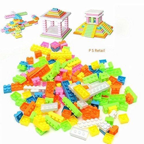 Ps Retail 144Pcs/Set Plastic Building Bricks Kids Modeling Building Bricks Block Toy