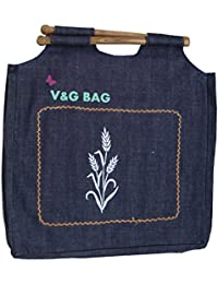 Multipurpose Washble Denim Grocery Bag/Fruit Vegetable Bag/General Use Bag/Shopping Bag/Luggage Bag | DCWW00-7