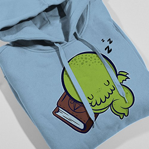 Baby Cthulhu Sleeping Women's Hooded Sweatshirt Sky Blue